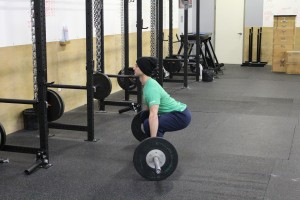"The ""Clean"" deadlift, with hips low, but the torso in a better position to transition to an aggressive jump."