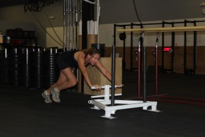 Liz G., getting busy on the prowler's.