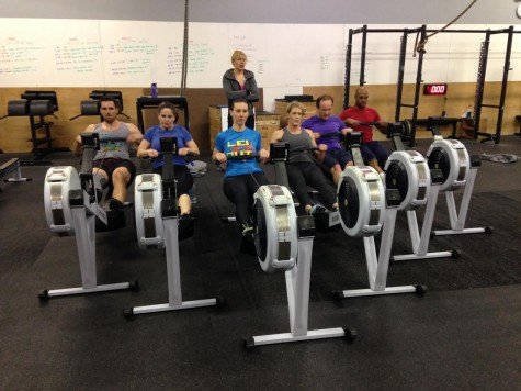 Maddie keeps her rowing class high and tight.
