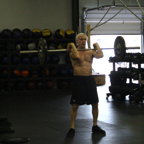 Dean showing his old man strength in class!  I wanna be half as strong as he is!