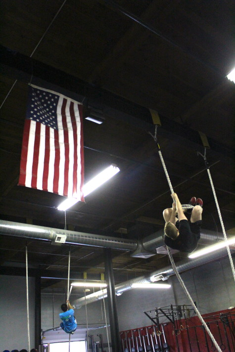 Dakota knows how to get those feet high and be efficient on rope climbs, along with some pretty cool dance moves too.
