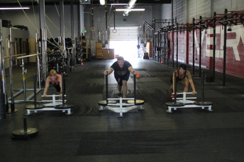 Team sled push