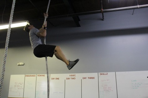 Steve taking care of some L Rope climbs.