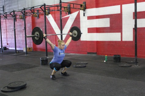 "Elizabeth ""Lillie"" Glaws has been working on her snatches in preparation for the Granite Games this weekend. Good luck Lillie!!"