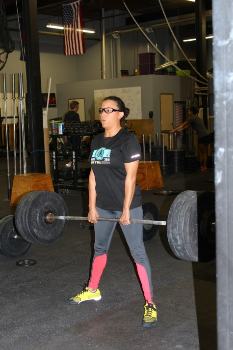 Allaina building her posterior chain.