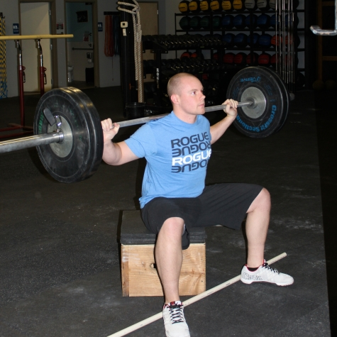 Max amidst box squats last week.