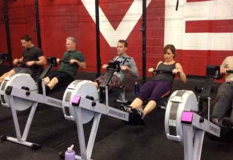 Howard, Kacey, and Joe getting some quality family time in at the gym during the holidays.