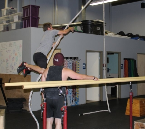 Fun with rope swings. Be sure to check out Urban Acrobatics on Sunday the 18th at noon!