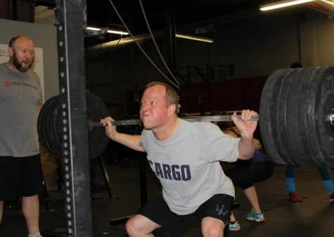 Back squats are fun with a friend.