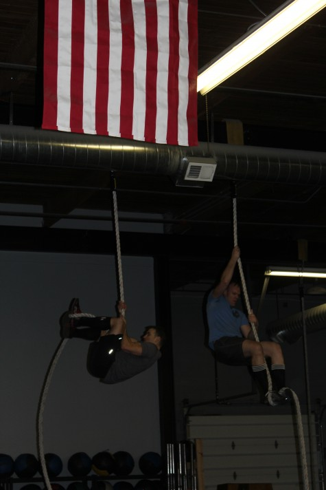 Ben and Mat on dueling rope climbs!
