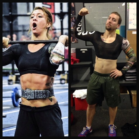 The compression crop top, who wore it better, Miss Andrea Ager or our very own Nate Rader? I mean they both got the abs for it.