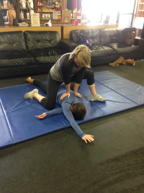 Friends don't let friends stretch alone. . . according to Dana and Molly.