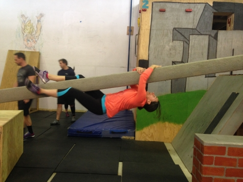 Jen R. showing her athletic prowess at Urban Acrobatics!