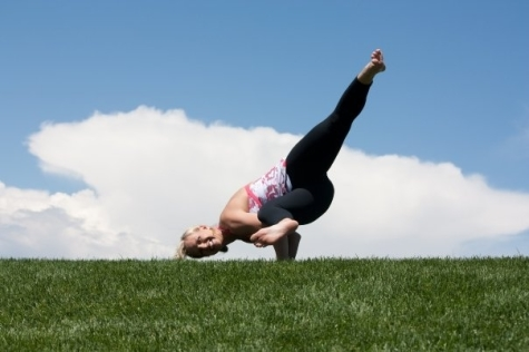 Kacey Kingry is the other half of our dynamic yoga duo.