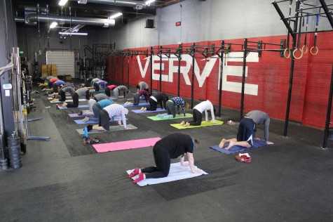 8am Sunday morning Yoga at Verve with Molly and Kacey. . . it's clearly the place to be.