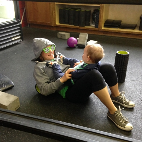 Danni keeping the little ones occupied while mom and dad workout. Just 1 of the many things Danni does for us at Verve.