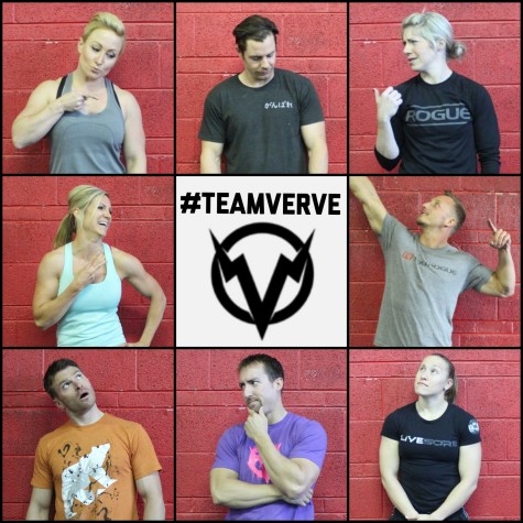 #teamverve is #regionalsbound. Clockwise from top left: Anna, Trey, Courtney, Matt, Lillie, Nate, Eric, and Nicole