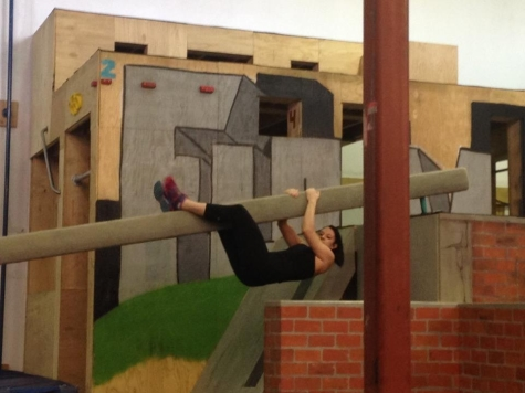 Throwback to Lacy taking on the Urban Acrobatics course!