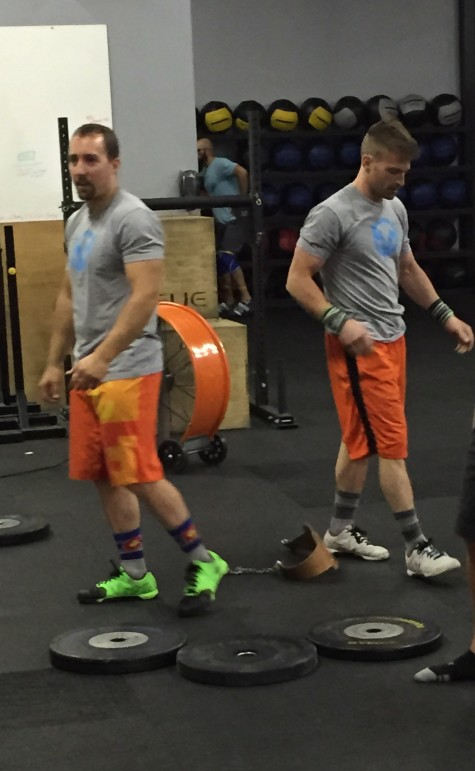 """Hey bro, Wednesday is MY day to wear the orange shorts!"" - the bromance has reached its peak."