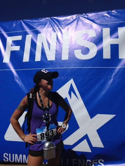 Danni is all smiles at the finish line of the O2X Summit Challenge in Winter Park.