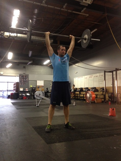 Jeremy grinding through yesterday's 20 min barbell AMRAP.