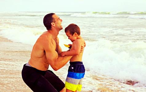 Josh Everett and his son Luke, bringing awareness to Autism.