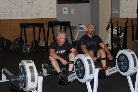 Howard and Eric going head to head on the rowers!