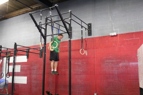 Sean getting his first muscle up during Friday's workout!