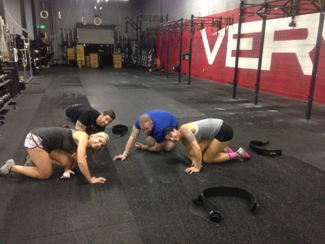 Team RANS finishing up the CrossFit Games #teamseries with some self forearm mashing.