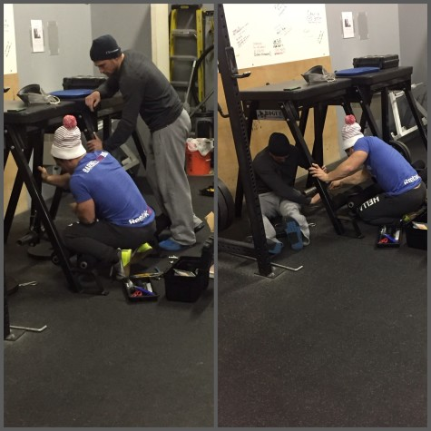 How many East coasters does it take to fix CrossFit equipment? VerveThank you to Clancy and Paul for keeping our equipment in working order. #CheckOutThoseTools #ThinkAboutIt #WeKid #ButReally