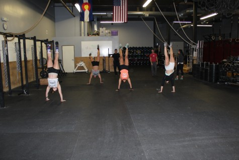 Handstand walking all around.
