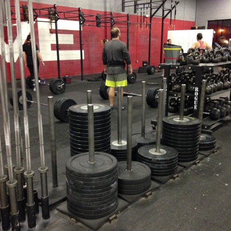 The sign of a good lifting day. . . all of the 45# plates are gone.