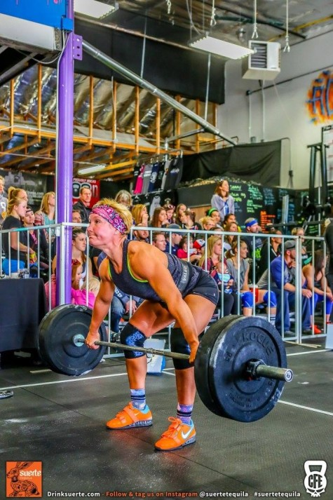 Emily getting after a heavy snatch.