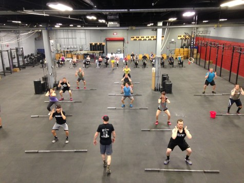 It takes organization between trainers to coach the main WOD in the front of the gym and Sprint in the back.