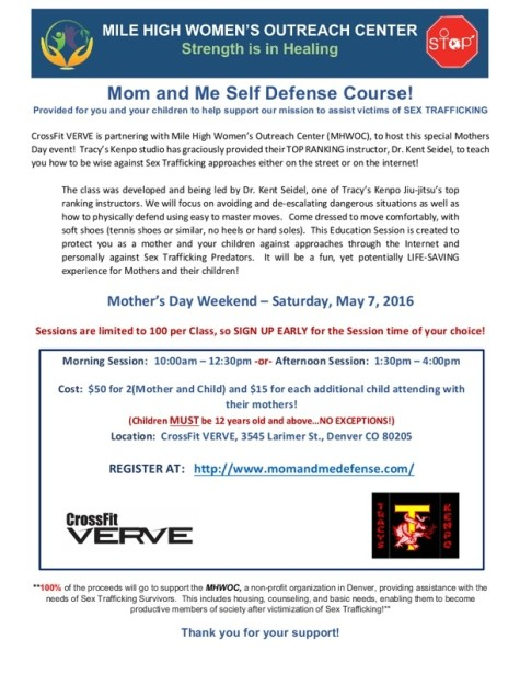 Mom and Me Self Defense Course