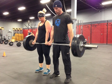 Phoebe and Dave partnering up for some heavy deadlifts! Than you to everyone who participated yesterday.