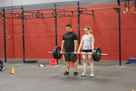 Edie and Walter working through some partner deadlifts