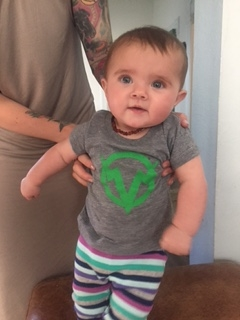 Jake P's daughter Marlee representing Verve in the cutest way possible!