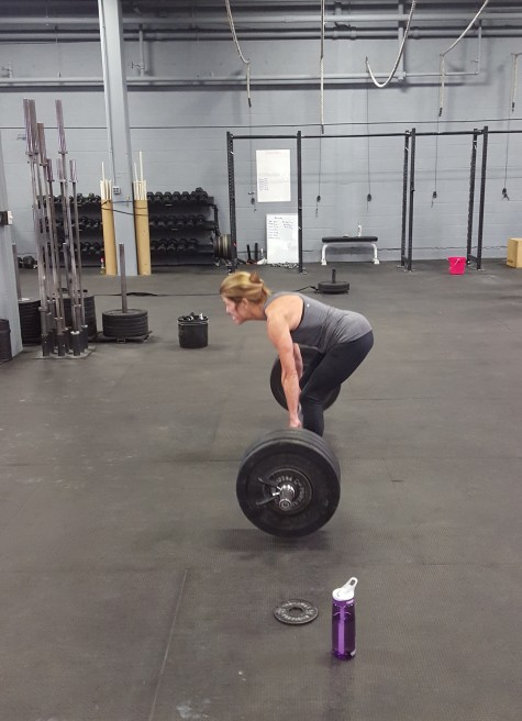 Joannie pulling a new deadlift PR on her birthday!