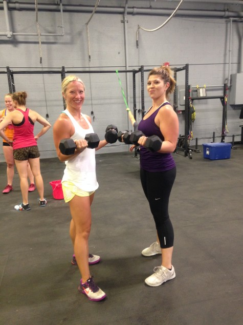 Kellie and Jackie just getting in a quick Solw Sesh! No, but really, bicep curls are great for your elbows (find a way to incorporate them into your accessory work)