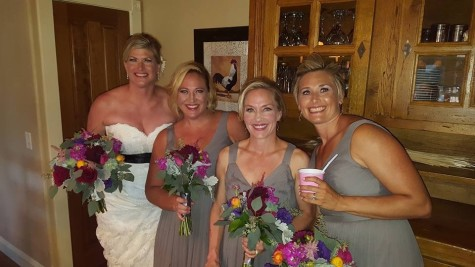 Congratulations to Jen Wiman-Rader who got married last week!!! You will also see Lisa D. and Ceresa in this picture as fully supportive brides maids. We are so happy for you Jen!