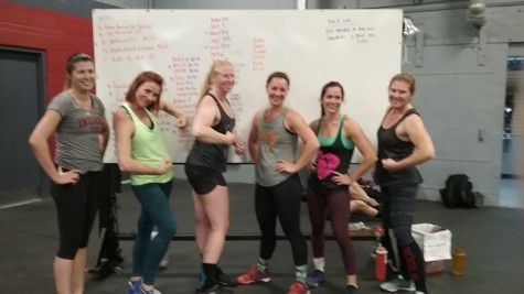The ladies of the 4pm showing their swole-ness (sp?)after the workout Wednesday!