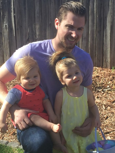 "Andrew ""Andy"" Schwiesow with his kids Bella and Charlie."