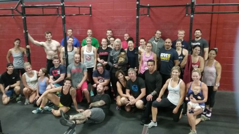 Great group of people came out for the memorial WOD for ANDY!! Thank you Laura for representing the Schwiesow family.