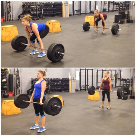Christine and Elizabeth getting after the Everyday Warrior Battle Series workout #1.