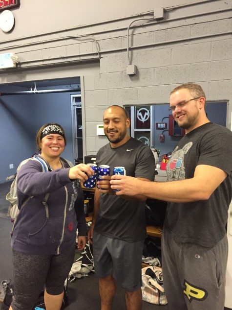 Post PR beers for Barb, Eddie, and John!! How else would you celebrate crushing weights?