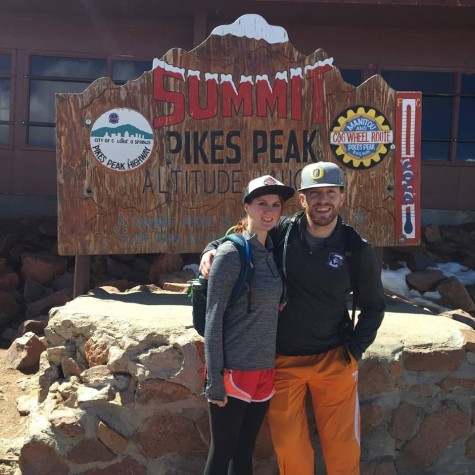 Garret and his much better half, Stephanie, after a nice walk up Pike's Peak.