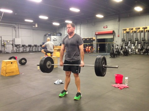Ron working through deadlifts during the Everyday Warrior Battles Series workout.