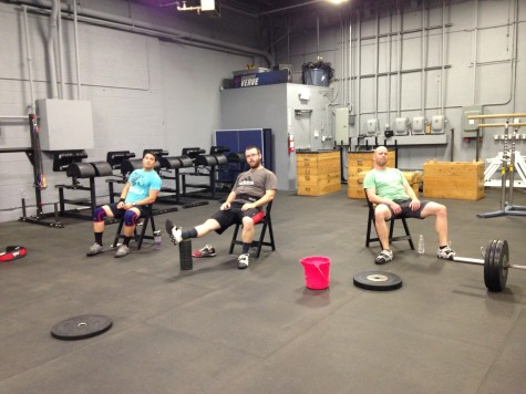 "The members of Verve Barbell just being as ""efficient"" as possible."