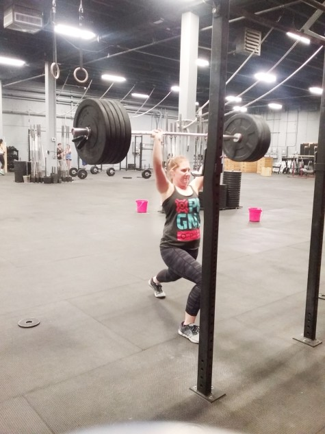 Emily getting under some big Split Jerk weight!